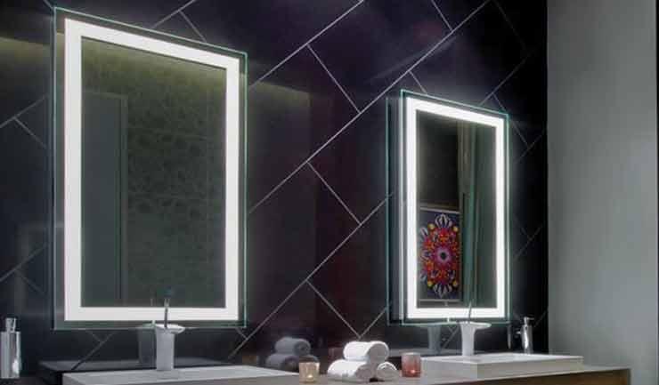 ideas for lighted bathroom mirrors light decorating ideas
