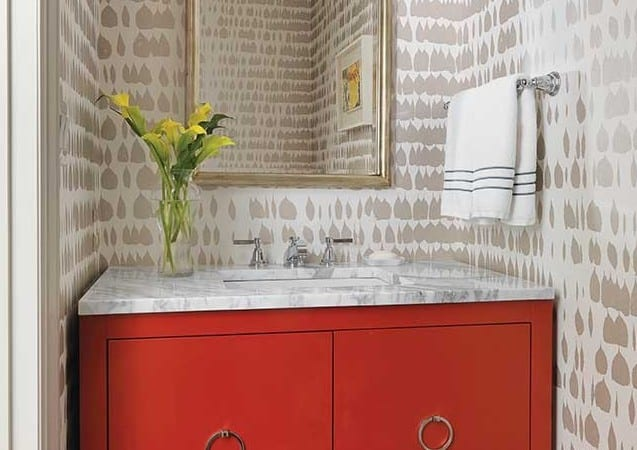 Powder Rooms That Pop Town Style