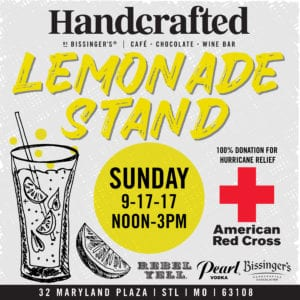Spiked Lemonade Stand for Hurricane Relief @ Handcrafted by Bissinger's  | St. Louis | Missouri | United States